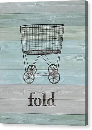 Fold On Wood Canvas Print by Jo Moulton