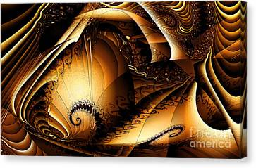 Folds In Time Canvas Print by Peter R Nicholls