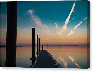 Canvas Print featuring the photograph Follow Me by Thierry Bouriat