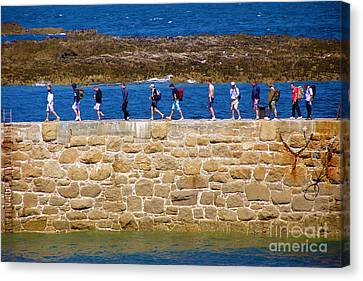 Follow The Yellow Brick Road Canvas Print by Terri Waters