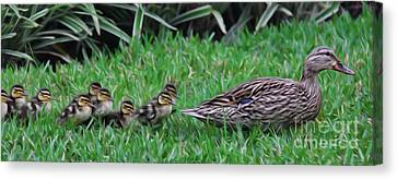 Following Mommy II Canvas Print by Lee Dos Santos