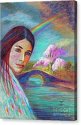Following The Rainbow Canvas Print by Jane Small