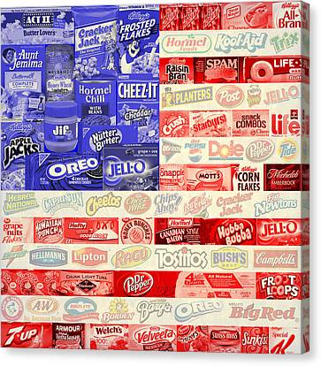 Food Advertising Flag Canvas Print by Gary Grayson
