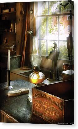 Food - Borden's Condensed Milk Canvas Print by Mike Savad