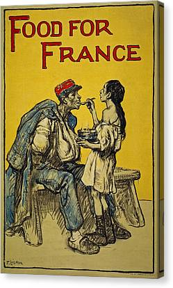 Food For France, 1918 Canvas Print by Francis Luis Mora