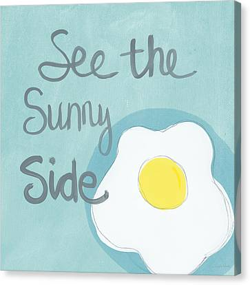 Food- Kitchen Art- Eggs- Sunny Side Up Canvas Print by Linda Woods