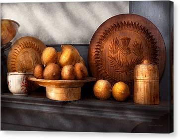 Food - Lemons - Winter Spice  Canvas Print by Mike Savad