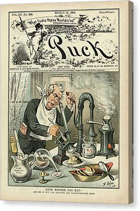 Food Testing Satire Canvas Print by Library Of Congress