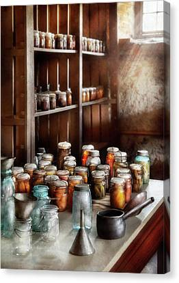 Food - The Winter Pantry  Canvas Print by Mike Savad