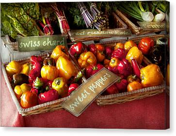 Food - Vegetables - Sweet Peppers For Sale Canvas Print by Mike Savad