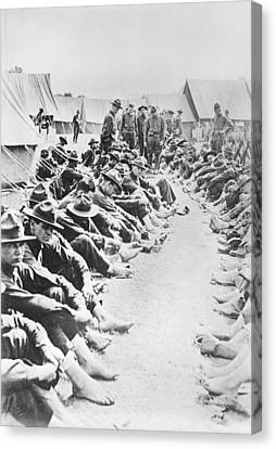 Foot Inspection Canvas Print by Library Of Congress
