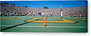 Football Game, University Of Michigan Canvas Print by Panoramic Images