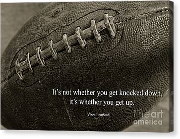 Football Get Up Canvas Print by Paul Ward