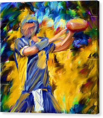 Football I Canvas Print by Lourry Legarde