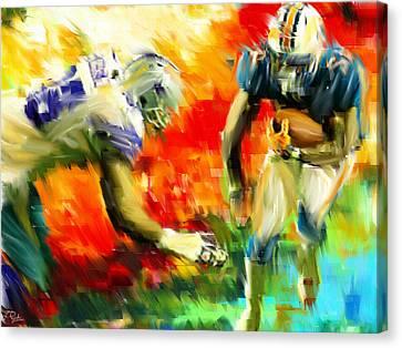 Football IIi Canvas Print by Lourry Legarde