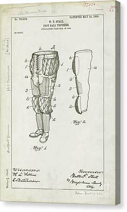Football Pants Patent Drawing Canvas Print by Jon Neidert
