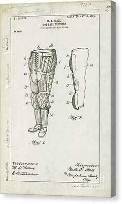 Football Pants Patent Drawing Canvas Print by Jon Neidert