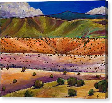 Foothill Approach Canvas Print by Johnathan Harris