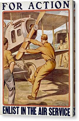 For Action, Enlist In The Air Service Canvas Print by Otho Cushing