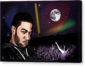 For Even In Hell - Kid Cudi Canvas Print by Dancin Artworks