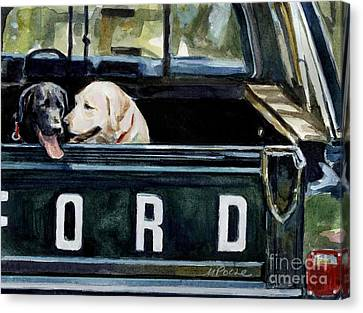 For Our Retriever Dogs Canvas Print by Molly Poole