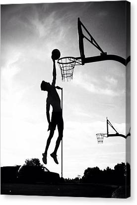 For The Love Of Basketball  Canvas Print by Lisa Piper Menkin Stegeman