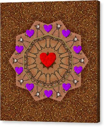 For The Love Of Hearts Canvas Print by Pepita Selles