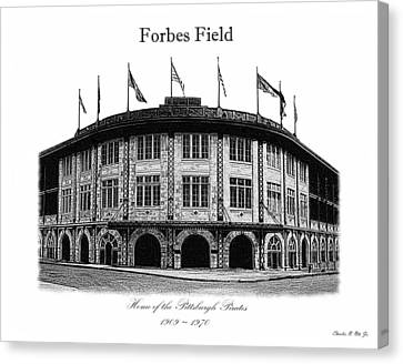 Forbes Field Canvas Print by Charles Ott