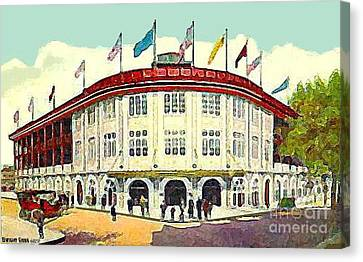 Forbes Field In Pittsburgh Pa C.1910 Canvas Print by Dwight Goss