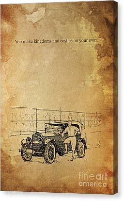 Ford And The Baseball Star Canvas Print by Pablo Franchi