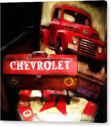 Ford Chevrolet Canvas Print by Robert Smith
