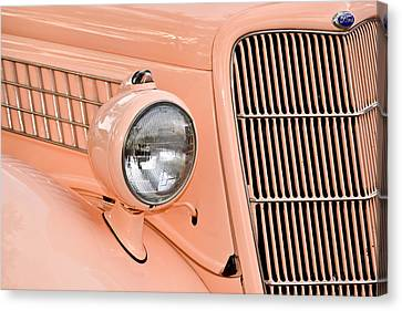 Ford Classic In Salmon Canvas Print by Carolyn Marshall