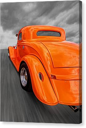 Ford Coupe Hot Rod 1934 Canvas Print by Gill Billington
