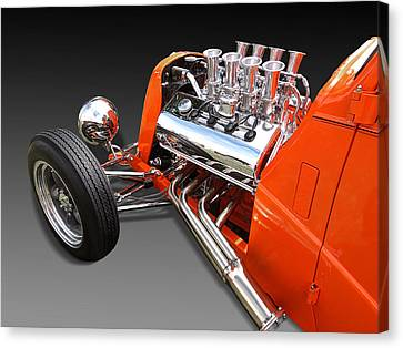 Ford Coupe Hot Rod Engine Canvas Print by Gill Billington
