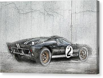 Ford Gt40 Canvas Print by Peter Chilelli