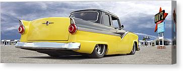 Ford Lowrider At Roys Canvas Print by Mike McGlothlen