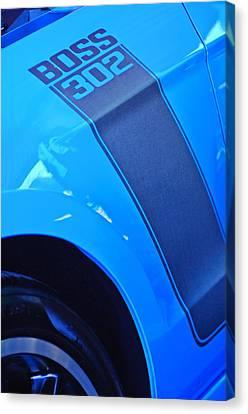 Ford Mustang Boss 302 Emblem Canvas Print by Jill Reger