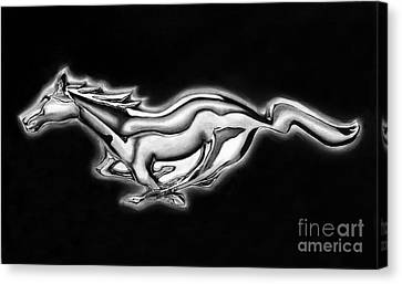 Ford Mustang Emblem Canvas Print by Peter Piatt
