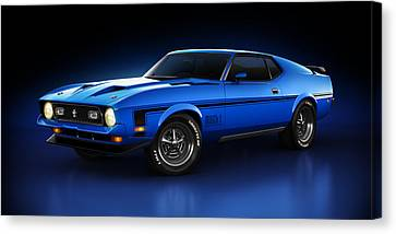 Ford Mustang Mach 1 - Slipstream Canvas Print by Marc Orphanos