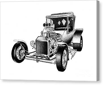Ford T Hot Rod Canvas Print by Joker Gallery
