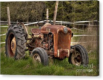 Ford Tractor Canvas Print by Alana Ranney