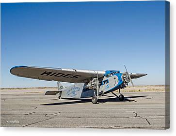 Ford Tri-motor Taxiing Canvas Print by Allen Sheffield