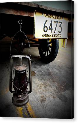 Ford Truck With Rear Dietz Kerosene Lantern Canvas Print by Amanda Stadther