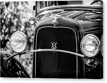 Ford V8 Canvas Print by Caitlyn  Grasso