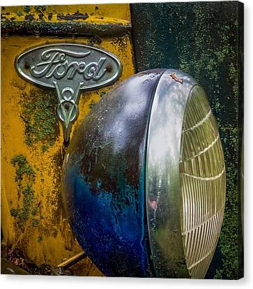 Ford V8 Emblem Canvas Print by Paul Freidlund