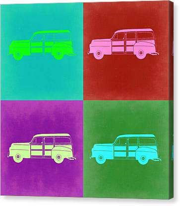 Ford Woody Pop Art  Canvas Print by Naxart Studio