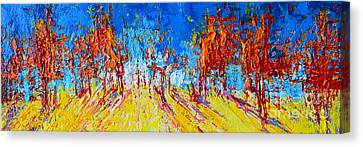 Tree Forest 1 Modern Impressionist Landscape Painting Palette Knife Work Canvas Print by Patricia Awapara