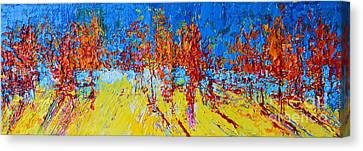 Tree Forest 2 Modern Impressionist Landscape Painting Palette Knife Work Canvas Print by Patricia Awapara