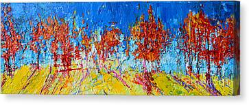 Tree Forest 3 Modern Impressionist Landscape Painting Palette Knife Work Canvas Print by Patricia Awapara