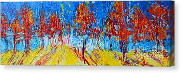 Tree Forest 4 Modern Impressionist Landscape Painting Palette Knife Work Canvas Print by Patricia Awapara